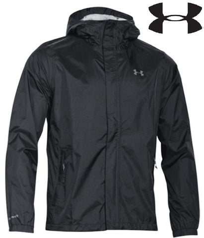 Under Armour Mens Black UA Storm Lightweight Bora Wind & Rain Proof Jacket