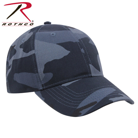 Midnight Blue Camo Mid-Low Profile Baseball Style Hat - Rothco Adjustable Cap