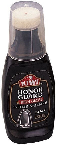 Kiwi Honor Guard Military Spit Shine Polish - Black High Gloss Shoe Polish - USA