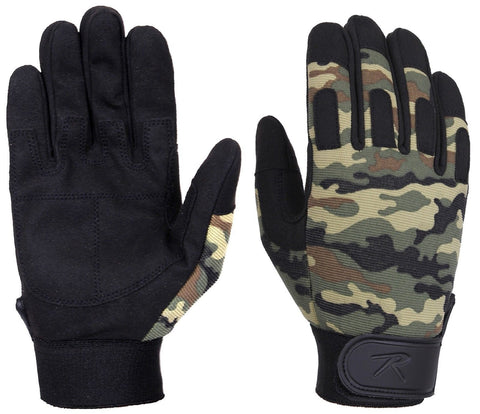 Woodland Camouflage Lightweight All-Purpose Work Duty Gloves S - XL Rothco 4429