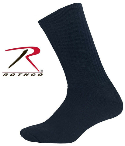 Navy Blue Athletic Crew Socks Large (10-13) - Rotcho Military Crew Sock