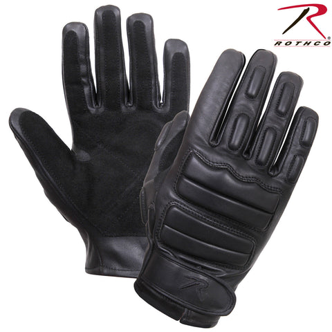 Rothco Black Tactical Full Finger Padded Gloves - Leather & Suede Gloves 2816