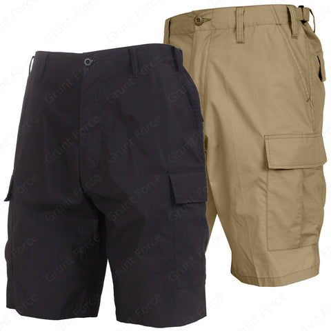 Black or Khaki Lightweight Tactical BDU Shorts - Rothco Summer Weight Shorts