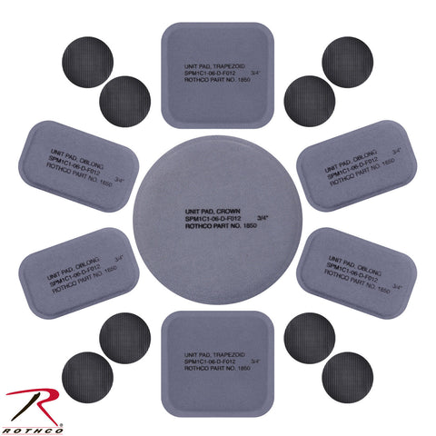 Rothco Tactical Helmet Replacement Pads - 15 Piece Replacement Pad Set