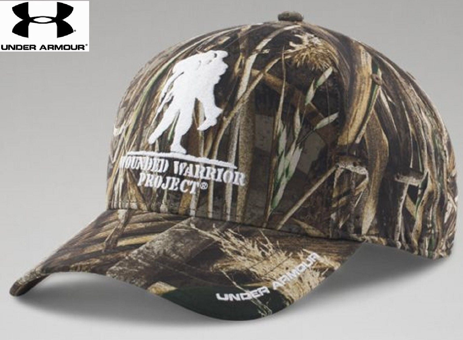 ... Under Armour Wounded Warrior Project Camo Snap Cap - Mens UA  Embroidered WWP Hat Realtree MAX5 ... 0c8e405f2988
