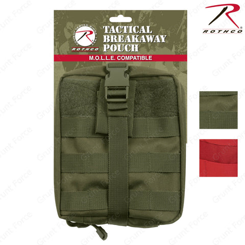 Rothco MOLLE Compatible Tactical Breakaway Medic Pouch In Red or Olive Drab