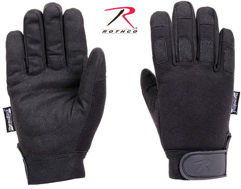 Rothco Black Cold Weather All-Purpose Duty Gloves - Poly Spandex Winter Gloves
