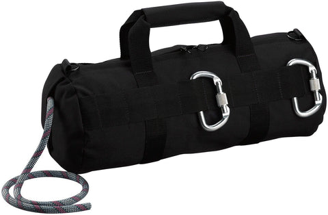 Professional Black Stealth Rappelling Bag - Great For Climbing & Caving, SWAT