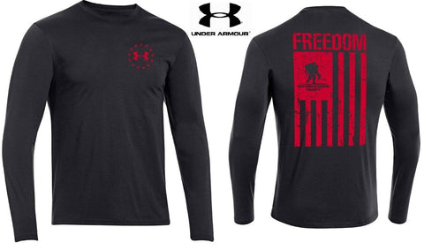 Under Armour Wounded Warrior Project Longsleeve T-Shirt - UA Freedom Flag Shirt