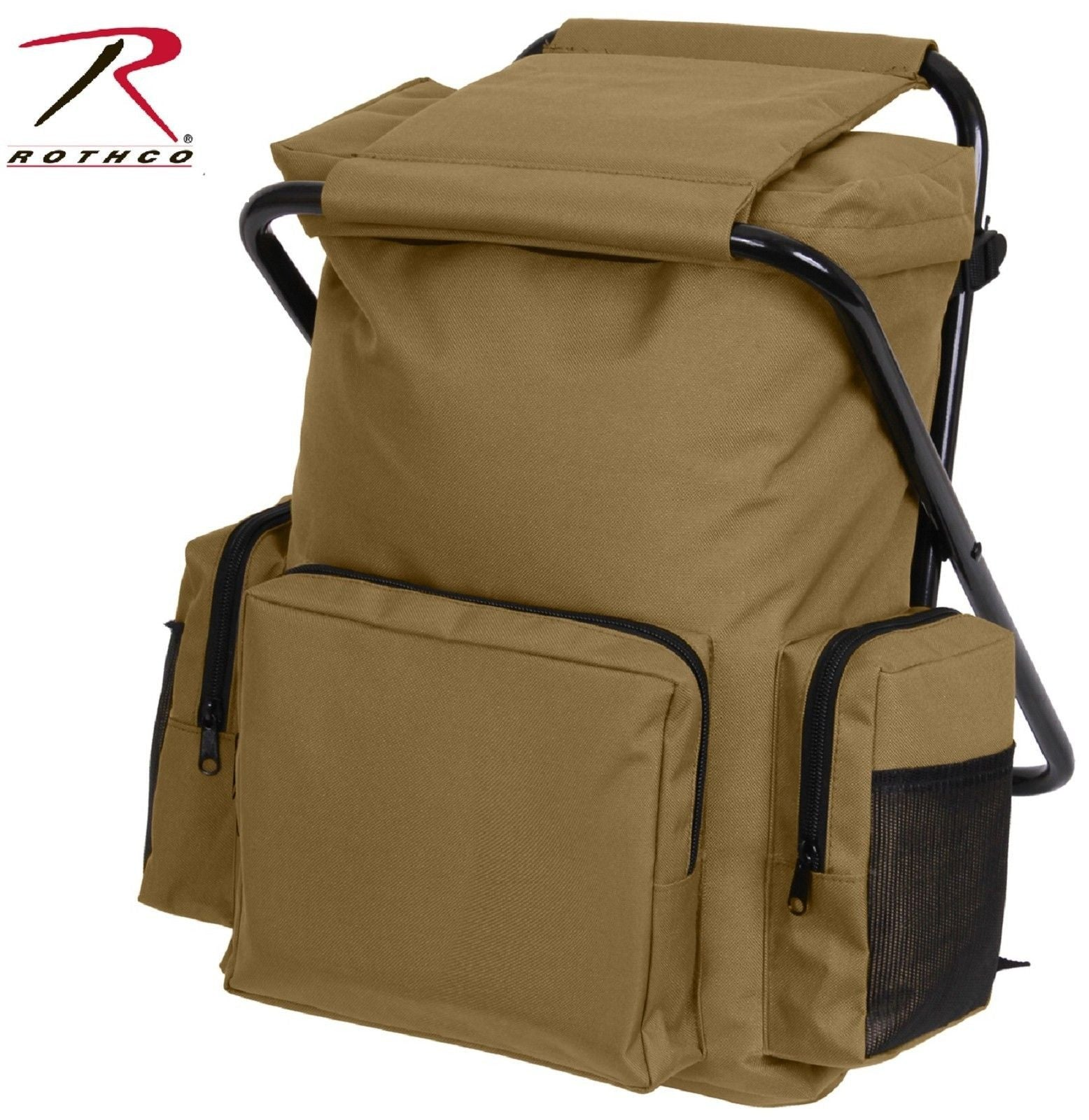 Coyote Brown Backpack Stool bo Pack Rothco Hunting & Outdoor