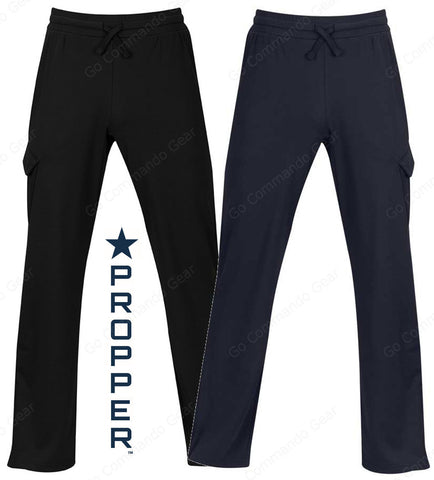 Propper Cover™ Sweatpant - Mens Fleece Cargo Sweatpants - Black & LAPD Navy