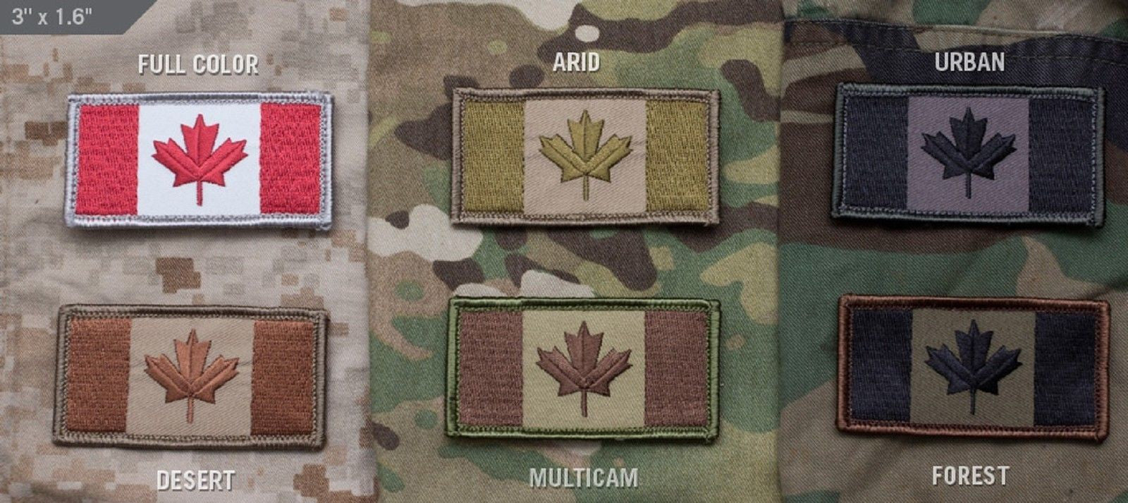 Canada Flag Tactical Patch - Canadian Military Combat Morale