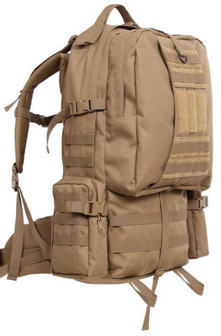 "Coyote Brown 3-Day Global Assault Pack 25"" Tactical MOLLE Outdoor Gear Bag"