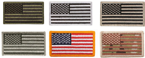 USA American Flag Six Patch Bundle Pack - 6 Velcro Type Tactical Morale Patches