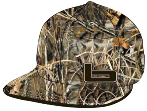 Banded Realtree MAX5 Camo Fitted Flat Bill Cap - Mens Camouflage Stretch-Fit Hat