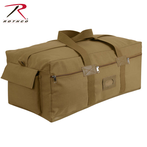 Coyote Brown Canvas Israeli Type Duffle Bag - Extra Large Military Army Gear Bag
