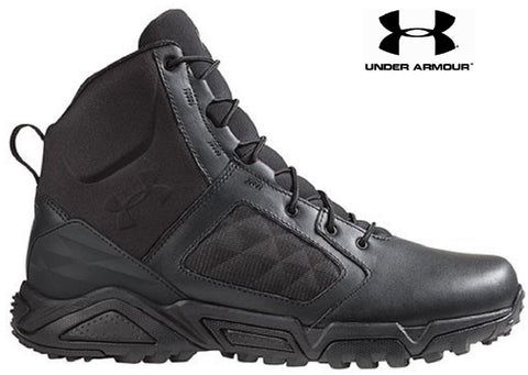 "Under Armour Side Zip 2.0 Tactical Boots - Mens 7"" Black UA Lightweight TAC Boot"