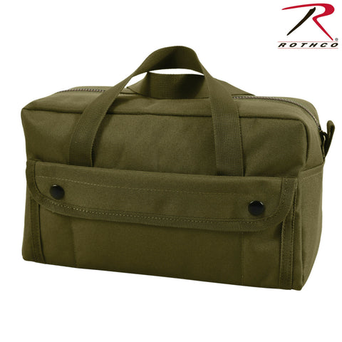 "Olive Drab Military Type Tool Bag 11""x7""x5"" - Rothco Polyester Mechanics Toolbag"