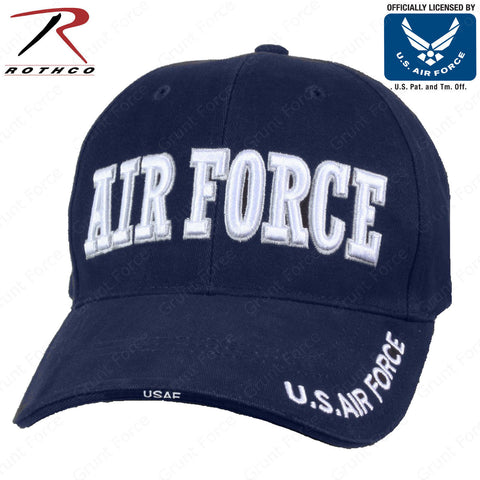Officially Licensed U.S. Air Force Baseball Hat - Rothco Navy Blue Air Force Cap