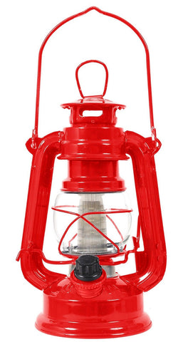 "Classic Red 7"" High 12-Bulb Lantern Adjustable LED Battery Operated Camp Light"