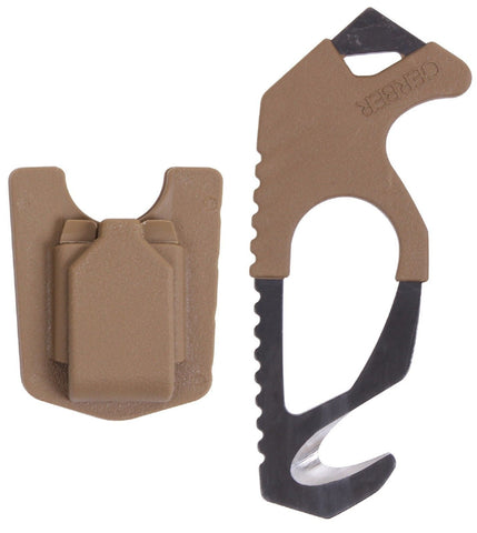 "Gerber Seatbelt & Nylon Strap Cutter - 5"" Compact Safety Rescue Blade"