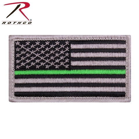 Rothco Thin Green Line US Flag Patch - Hook & Loop American Flag Patch With TGL