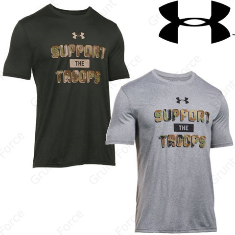 Under Armour SUPPORT THE TROOPS Short Sleeve TShirt - Mens Ultra Soft Tee Shirt