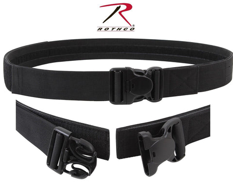 "Black Triple Retention Tactical Duty Belt - 2"" Law Enforcement Hook & Loop Belts"