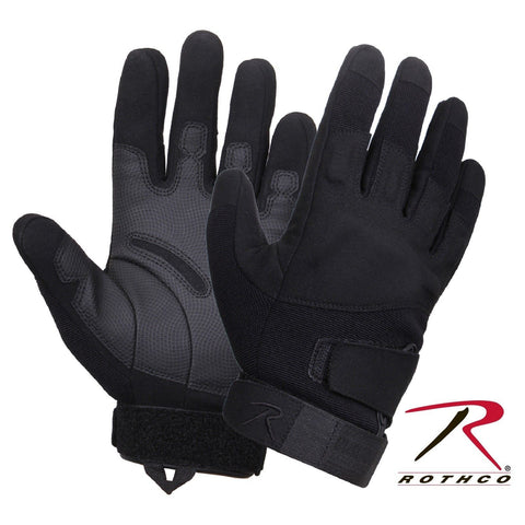 Black Tactical Duty Gloves - Rothco Low Profile Padded Work Gloves