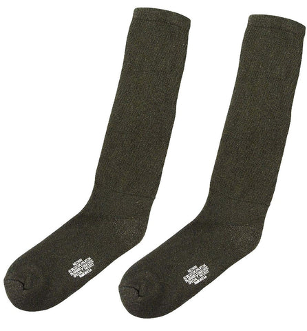 Olive Drab Government Irregular Cushion Sole Military Socks - USA Made GI Sock