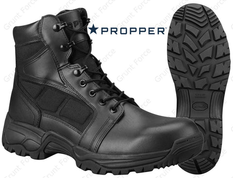 Propper Series 200 WATERPROOF Boots - Black 6 Inch Side Zip Boot w/ YKK Zipper