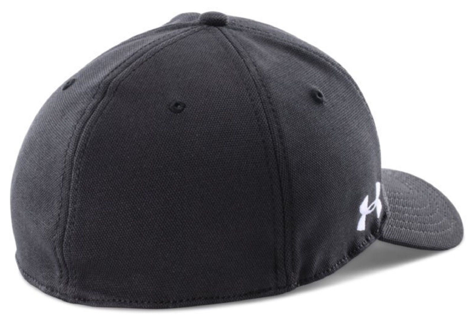 ... Under Armour Wounded Warrior Stretch-Fit Cap - Black UA WWP Flex Fitted  Hat ... 8156a856176