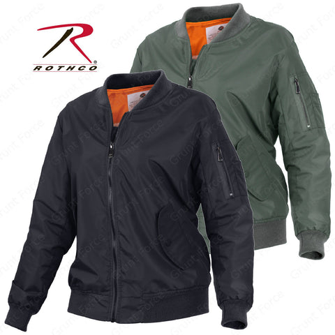 Women's MA-1 Flight Jacket - Womens Lightweight Bomber Jacket Rothco 2410