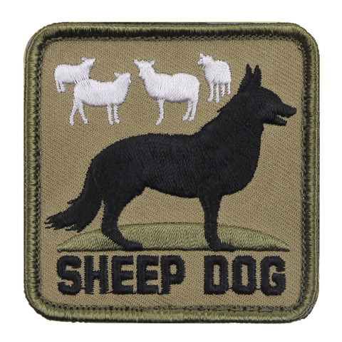 "Rothco Sheep Dog Morale Patch - 2½"" x 2½"" Square Hook & Loop Military Patch"