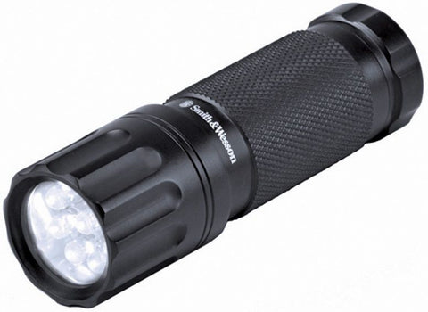 Smith & Wesson Galaxy 9 Bulb LED Flashlight - Compact Tactical Mini Flashlight
