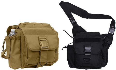 Rothco XL Advanced Tactical Shoulder Bag - Black or Brown Single Strap Pack