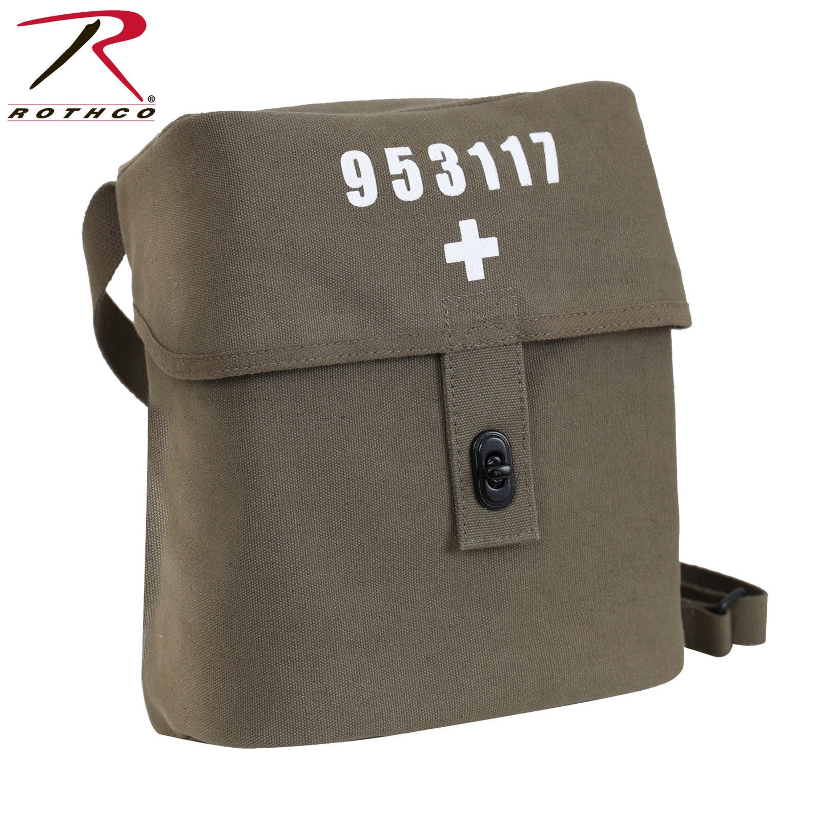 5561585405b3 Rothco Swiss Military Canvas Shoulder Bag - Military Tactical Medic Style  Bag. Zoom. Move your mouse over image or click to enlarge