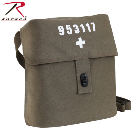 Rothco Swiss Military Canvas Shoulder Bag - Military Tactical Medic Style Bag