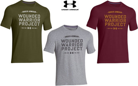 Under Armour Wounded Warrior Project Barbed Wire T-Shirt - UA Mens WWP Tee Shirt