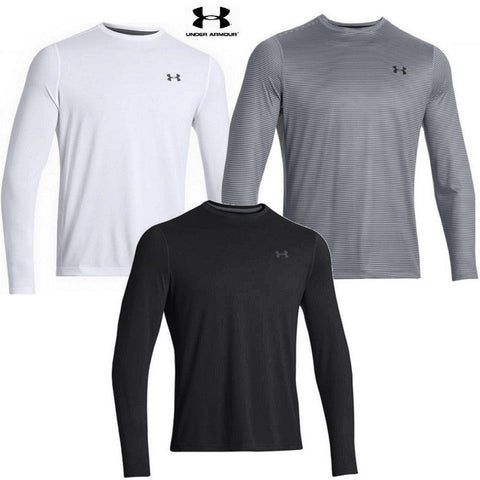 Under Armour Tech Long Sleeve T-Shirt 2.0 - Black, Gray or White Mens Tee Shirt