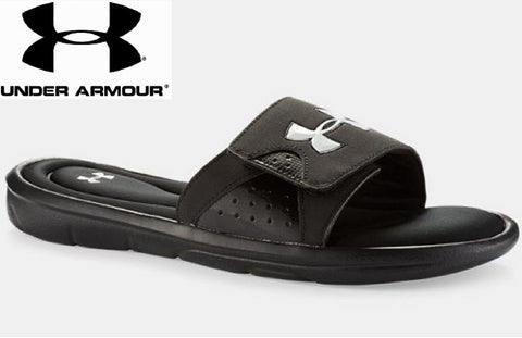 Under Armour Ignite IV Slides - Mens UA Black HeatGear® Foam Sandals