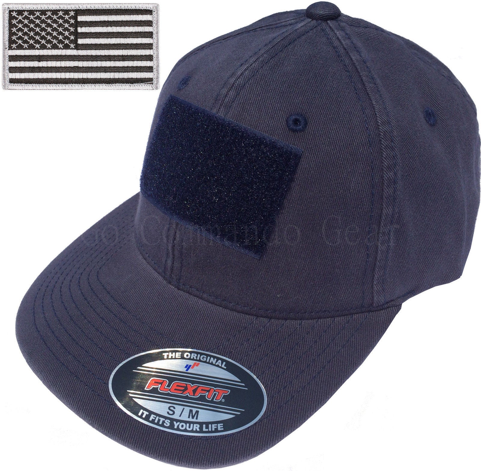 Flexfit Vintage Cotton Tactical Cap Hat w/ Patch Area