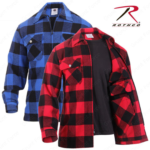 Rothco Concealed Carry Flannel Shirt - Red Black Or Black Blue Flannel With CCW