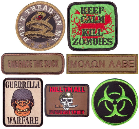 Military Tactical Morale Patch - Rothco Velcro-Type Hook Back Patches