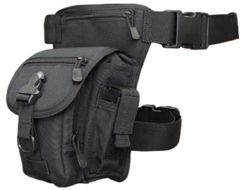 Condor Outdoor Black Tactical Cross-Over Leg Rig Utility Pack