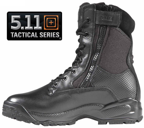 Mens 5.11 Tactical Black ATAC® Storm Side Zip Field Duty Uniform Work Boot