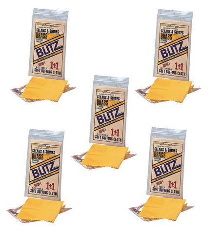 Blitz Polish Buff Cloth - Cleans & Shines Brass, Copper & Chrome! - 5,10,20 Pack
