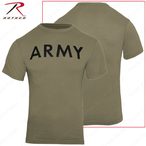 Rothco Men's AR 670-1 Coyote Brown ARMY Physical Training T-Shirt
