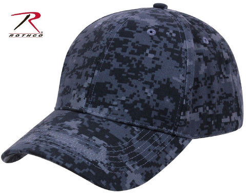 62cbb61c0a3 Supreme Low Profile Adjustable Midnight Blue Digital Camouflage Baseball Cap  Hat