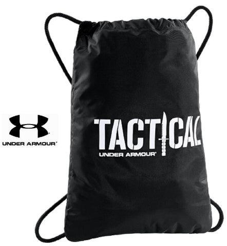 "Under Armour TAC Sackpack - UA 18"" Black Polyester Tactical Backpack Sack Bag"